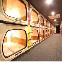 3階カプセルルーム(頭から入るタイプです)Normal capsule room