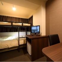 ツインルーム(2段ベッド)です。Twin room