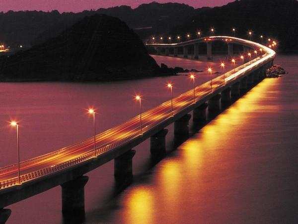 角島大橋(夜)