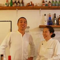 *【レストラン/珊瑚テーブル】気さくなオーナー夫婦があたたかくお迎えいたします。