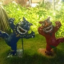 *沖縄へようこそ!シーサー達も楽しそうに皆様を歓迎しております。