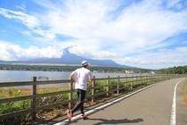 山中湖のジョギング