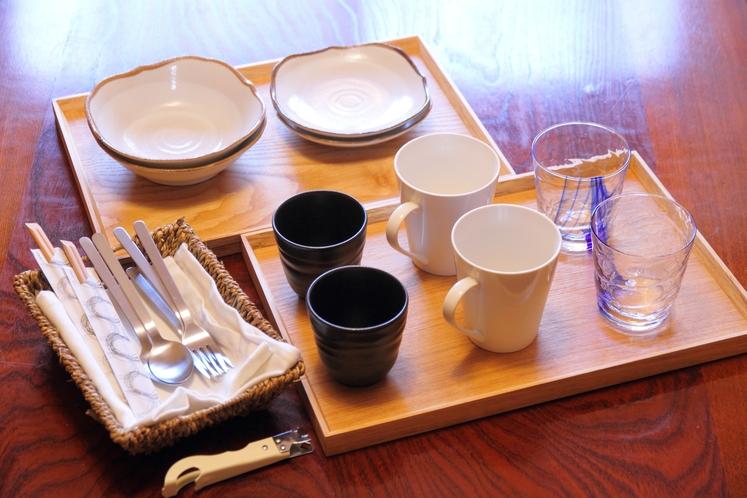 客室の食器類