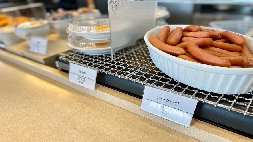 ◆温製ビュッフェコーナー◆(※イメージ) メニューは旬の物をご提供するべく随時変更しております。