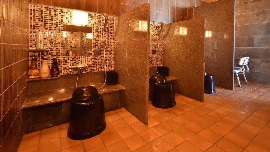 ◆男性大浴場洗い場◆洗い場(カラン数:6箇所)