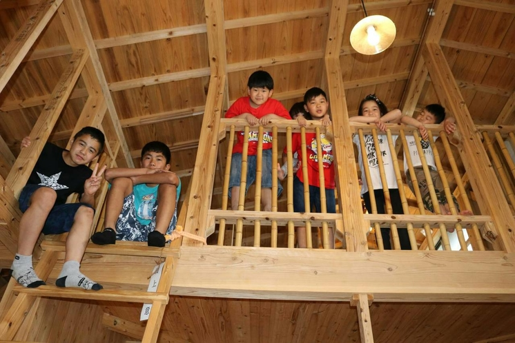 ちゅうり棟には、子供たちが喜ぶロフト。