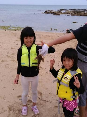 近くの海で魚がつれたよ♪