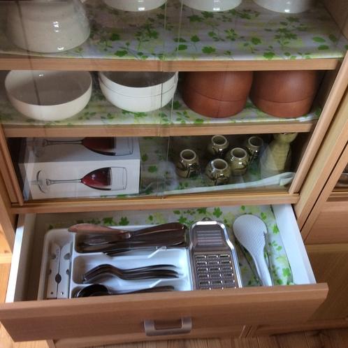 長期滞在用のお客様向けで、さまざま種類の食器完備しています。
