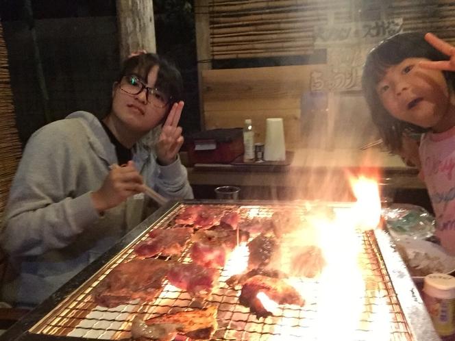 スナドゥン東屋にて木炭BBQ