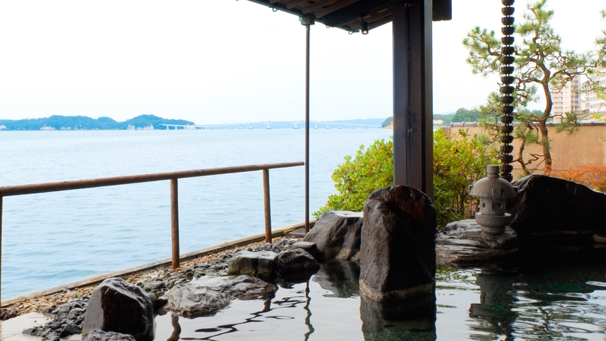 男性大浴場:岩風呂の湯