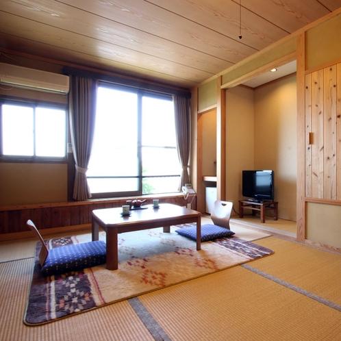 【お部屋】和室7.5畳・かけ流しの温泉が付いたお部屋でプライベートな時間をお楽しみください。