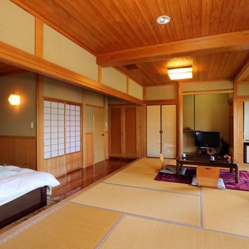 【お部屋】16畳・ゆったりとした和洋室は、ご家族やグループ旅におすすめのお部屋です。