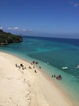 瀬底島のビーチ あんち浜