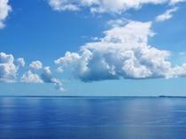 【周辺】絶景ポイントの三角点。空と海の広さを感じてください。