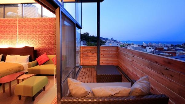 【3階】露天風呂付和室ツイン(57平米・定員4名)