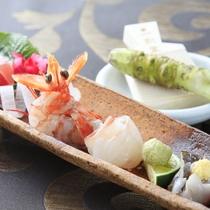 旬を味わう季節の鮮魚【創作和食会席(一例)】