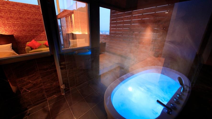 【3階 露天風呂付きツイン和室(一例)】