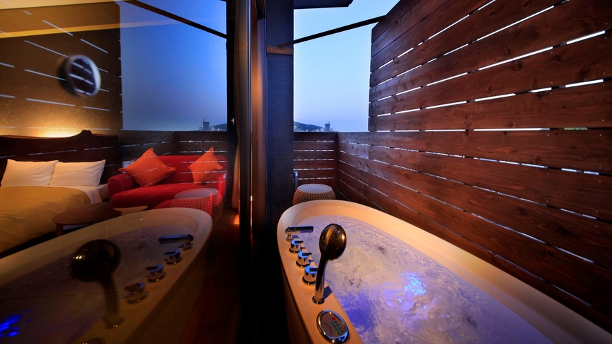 【最上階露天風呂付ツイン和室(一例)】