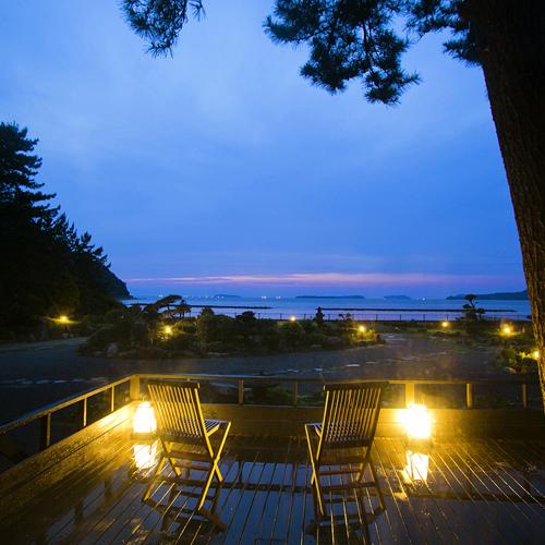 ● 月見台から眺める日本海の絶景は心の癒しタイム♪