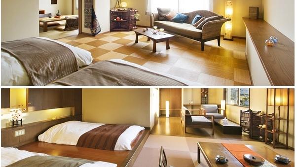 【デザイナーズ客室】和の間+ツインベッドルーム