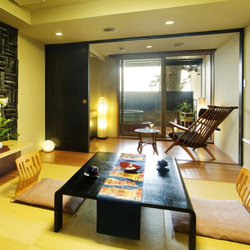 【ききょう】●露天風呂付客室●菊ヶ浜の海景色を見渡して♪