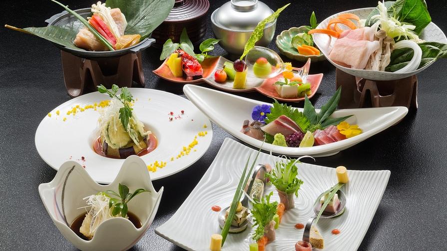 【◆*料理長渾身の選べる会席*◆】旬の食材をたっぷり使った、料理人のこだわり溢れる4つの和創作会席