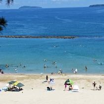 【快水浴場百選】夏の一番人気スポット『菊ヶ浜海水浴場』徒歩1分。