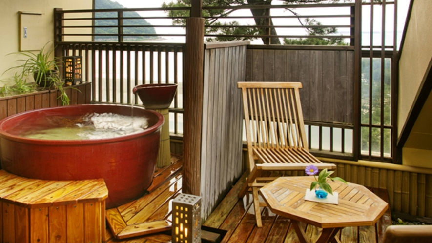 【つばき】■オーシャンビュー*萩指月温泉■最上階DX露天風呂付客室(イメージ)