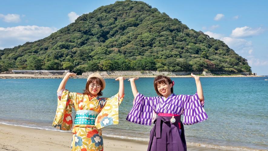 ●徒歩1分の菊ヶ浜/指月山を支えてます!?重たいよ~!誰か助けて!!!