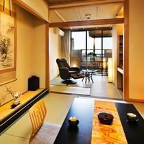 ●【露天風呂付客室・1階7.5帖(イメージ)】●菊ヶ浜の海景色を見渡して♪