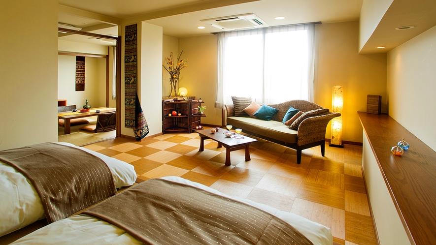 ●女性に人気のゆったりとしたお部屋、大人の上質空間♪【デザイナーズ客室【Atype】