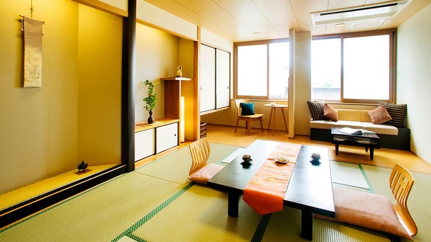 ●落ち着いた雰囲気が人気のお部屋です【趣の異なるモダン客室~和風モダン客室~】
