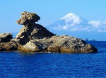 富士山とトンビ島