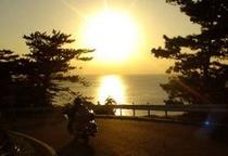夕日が美しい西海岸