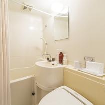お部屋/シングルルーム|ウォシュレット付トイレ&バスルーム