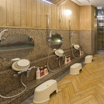女性大浴場/清潔感あふれる大浴場で、足をのばしてのんびりと♪