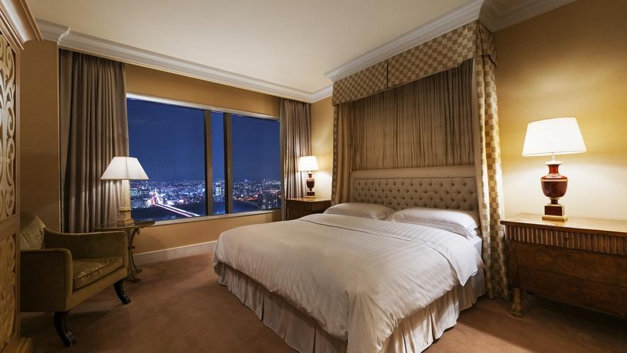 【ラグュアリーフロア】最上階34階 エグゼクティブスイート(ベッドルーム)