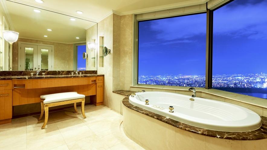 【ラグジュアリーフロア】最上階34階 インターナショナルスイート(バスルーム)