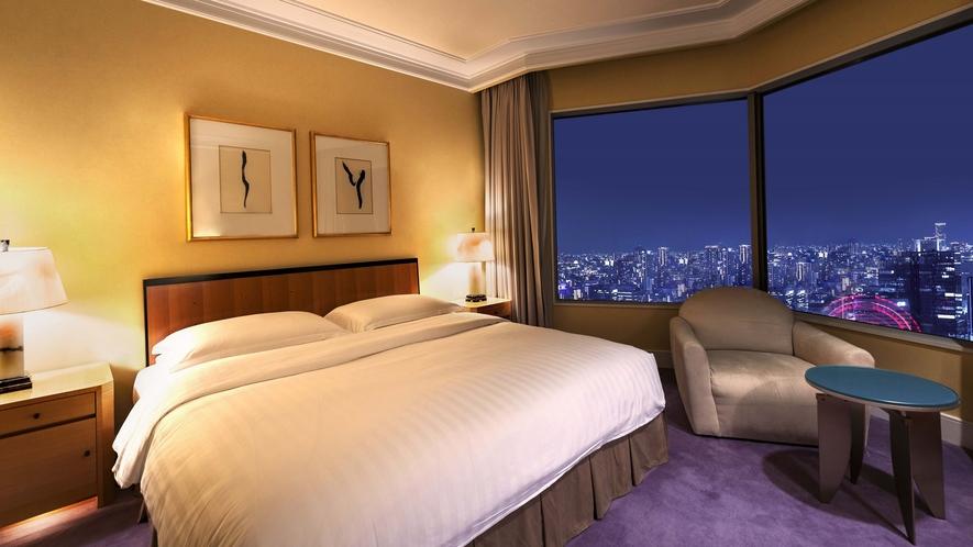 【ラグジュアリーフロア】最上階34階 シニアスイート(ベッドルーム)