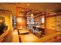 【東館1階 すし波奈 まとい亭】半個室のテーブル席も人気です。