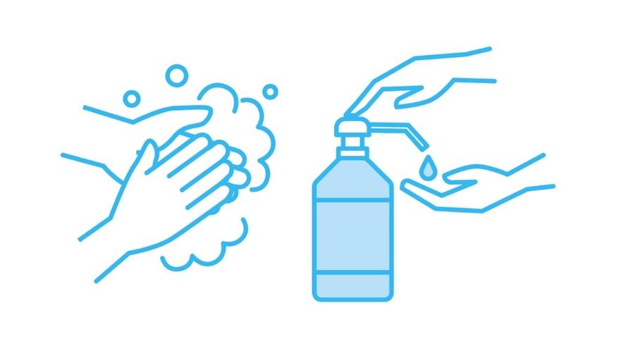 手洗い・消毒にご協力をお願いいたします。