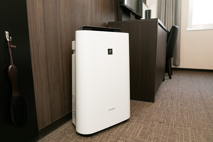 全室にプラズマクラスター搭載加湿空気清浄機をご用意しております。