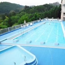 渓谷のプール