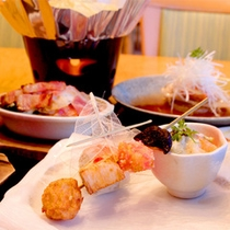 和夕食の料理(一例)