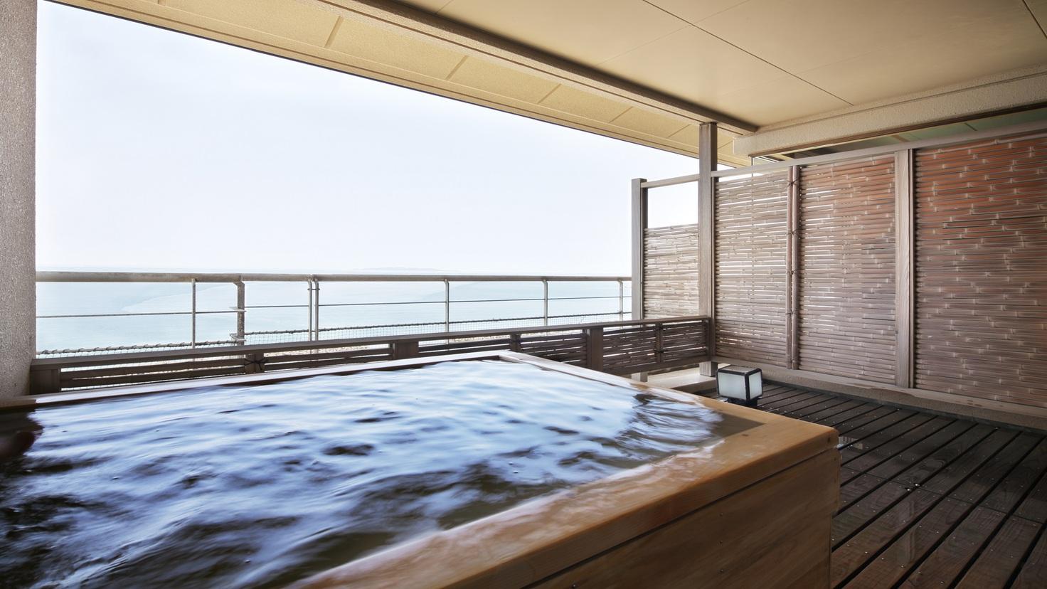 オーシャンビュー「そよ風館」最上階特別室 客室露天風呂(給湯)