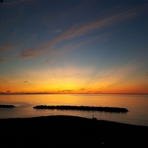 日本海に沈む夕日(9月)