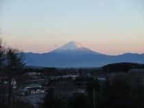 冬 富士山の夕暮れ(アスコット近隣)