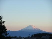 冬の夕暮れ 富士山