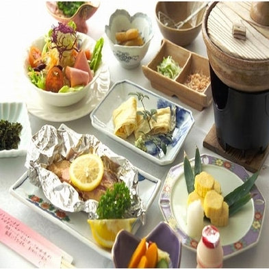 ●朝食プラン=夕食には間に合わないので朝食だけお願いします。