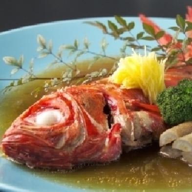 ♪温泉と楽しい夕食は(笑)金目の姿煮と伊勢海老付で♪破格提供、プラン内容見てネ